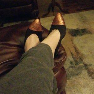 "Chanel sling back pump with 4"" heel sz.7."